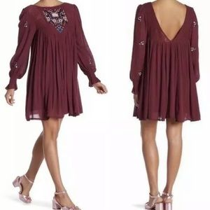 Free people Mohave Moya Embroidered Swing Dress XS